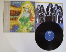 PRETTY MAIDS FUTURE WORLD LP vinyl 33t Japan / Japon Obi Rare insert