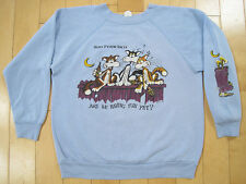 SOFT 1985 vtg SAN FRANCISCO BABY BLUE alley cat SWEAT SHIRT 80s front back SMALL