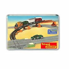 Minic Motorways and Triang Railways Advert Jumbo Fridge / Locker Magnet