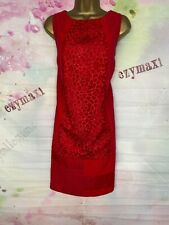COAST VIBRANT RED EMBROIDERED TUNIC DRESS SIZE 16