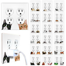 2-Gang Double Duplex Outlet Animal Wall Plate Receptacle Plug Cover