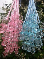 Pacifier Necklaces Baby Shower Game Prizes Favors Blue & Pink Decor U-Pick Color