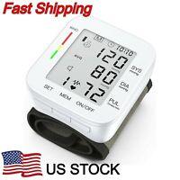 Intellisense Wrist Electronic Blood Pressure Monitor Voice Notify w/ Memory Case