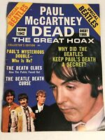 Paul McCartney Dead The Great Hoax Magazine Original 1969 Collector's Edition