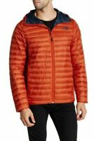 The North Face Mens Tonnerro 700 Down Hooded Jacket Seville Orange Size Large