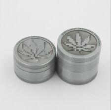 3-Piece Herb Grinder Spice Tobacco/Weed Smoke Zinc Alloy Crusher Leaf Design