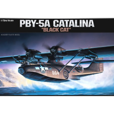 """Academy Consolidated PBY-5A Catalina """"Black Cat"""" 1:72 Plastic Model (12487)"""