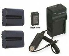 TWO Batteries + Charger for Sony DSLR-A560 DSLR-A580 DSLR-A580L DSLR-A700 A700H
