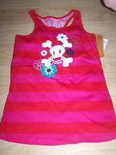 Size XS 4-5 Paul Frank Cross Bones Skull Red Striped Tank Top Shirt New