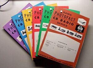 SAMS Photofact CB Radio Series Books CB-80 to CB-253
