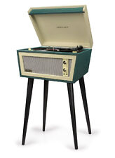 Crosley STERLING CR6231D-GR 2 Speed Turntable Record Player GREEN/CREAM w/ Stand
