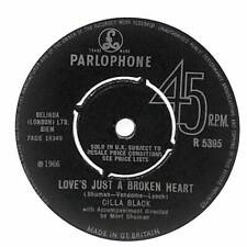 """Cilla Black - Love's Just A Broken Heart - 7"""" Vinyl Record Single"""