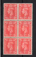 GEORGE VI 1d MOUNTED MINT BLOCK + PAPER JOIN PRINTING ERROR