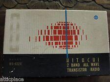 VINTAGE HITACHI WH-822H SW/BC TRANSISTOR RADIO 1963 -NICE!