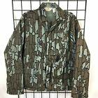 Vintage Camo Jacket Men's L USA Redhead Trebark Camouflage Hunting MINT Gray