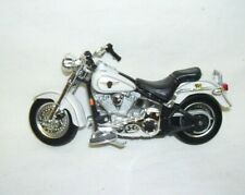 Collectible Harley Davidson Motorcycle White with Black Design by Maisto