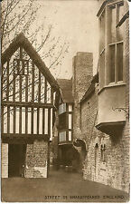 Vintage W. H. Smith Street in Shakespeare's England Postcard
