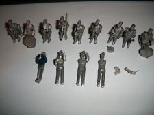 Antique lot of Small Lead Band figures w chairs some sitting some standing rare