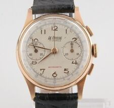 La Phare 18k Rose Gold Men's Hand-Windng Chronograph 17 Jewel Watch Leather Band