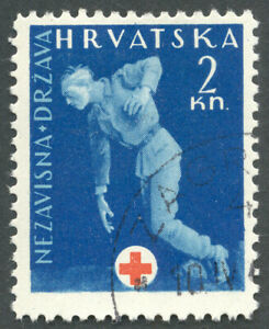 Croatia, 1943, WWII, Red Cross, tax obligatory stamp
