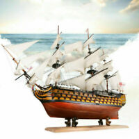 US 3D Victory Wooden Sailing Boat Model DIY Kit Ship Assembly Decoration Gift