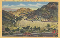 Linen Postcard A555 Telegraph Pass U.S. Hwy 80 Phoenix to Yuma Arizona Curteich
