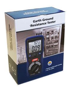 CEM DT-5300 Digital Earth Ground Resistance Tester Ohm DC AC Volt Meter w/ Bag