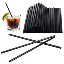 Cannucce cocktail nere 400 pezzi usa e getta cannucce per frullati frappè 20 cm