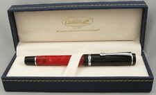 Conklin Duragraph Red Nights Red & Black Fountain Pen - Fine Nib - NEW!