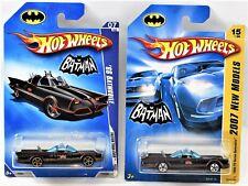 Hot Wheels 2007 '66 TV Series Batmobile & 2009 Faster Than Ever Batmobile
