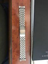 20mm Uhrenarmband Herren Edelstahl mit runden Ansatzklammern neu