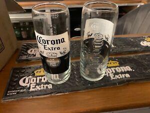 Brand New Corona Pint Glasses x 2 (M20)