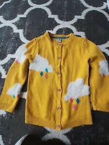 Tu Girls Yellow Cloud Design Cardigan Age 3-4 Years