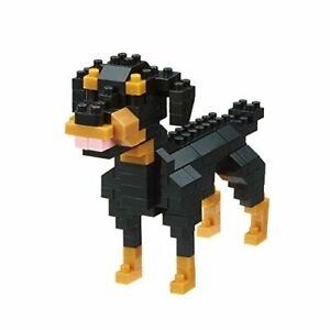Nanoblock Rottweiler Mini Steine Puzzle 140 Teile NBC-263 Hund Rasse Brandneu
