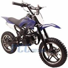 FREE SHIPPING KIDS 49CC 2 STROKE GAS MOTOR DIRT MINI POCKET BIKE BLUE H DB50X