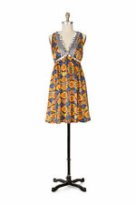 Anthropologie NWT Plenty Tracy Reese Silk Empire Waist Currency Dress M 8 $298