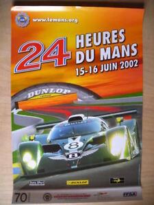 Affiche  24 HEURES DU MANS   Juin 2002  Affiche officielle ACO