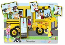Melissa & Doug THE WHEELS ON THE BUS SOUND PUZZLE Pre-School Wooden Toys BN