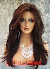 Lace Front Wigs New Fashion Charm Women's Long Brown Straight Nature Full Wig