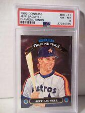 1992 Donruss Jeff Bagwell RC PSA NM-MT 8 Baseball Card #DK-11 MLB