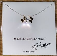 Disney Parks Collection STERLING necklace Minnie Mouse Bows tri-color  - NEW