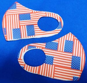 10 Pieces - AMERICAN FLAGS Face Mask's -Soft, Breathable, Washable and Reusable