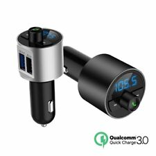 Wireless Bluetooth In Car FM Radio Transmitter MP3 Player Dual USB QC3.0 Charger