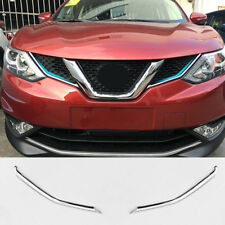 FIT FOR 2014- NISSAN QASHQAI CHROME FRONT MESH GRILLE COVER TRIM INSERT MOLDING