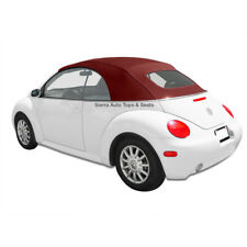 VW Beetle 2003-2010 Convertible Top in Bordeaux German A5 with Glass Window