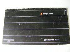 B&O BANG & OLUFSEN BEOMASTER 5000 BEOSYSTEM OWNER MANUAL 23 PG BOOKLET