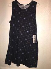 New Vans Womens Big Shredda Sleeveless Tank Dress Size Medium MSRP $44.50 BLK
