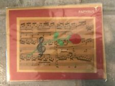 Papyrus Valentine's Day Card -Sheet Music with Laser-Cut Rose & 3D Treble Clef
