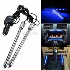 2x 15LED Neon Blue Car Sound Activated Interior Dash Music Rhythm Light Lamp 12V