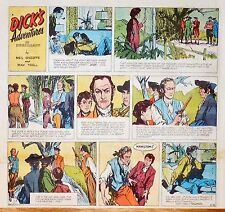 Dick's Adventures by O'Keeffe - large 2/3 page color Sunday comic March 16, 1952